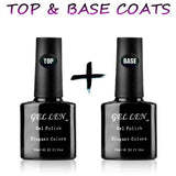 Top & Base Coats Shellac UV LED Gel Nail Polish Set  - Black Friday Cyber Monday - Free Shipping