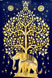 Bohemian Tree of Life, Indian Elephant Tapestry, Twin Size Dorm Tapestry -- Free Shipping