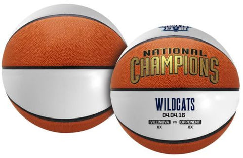 2016 NCAA Champions Villanova Wildcats Full Size Basketball - Free Shipping