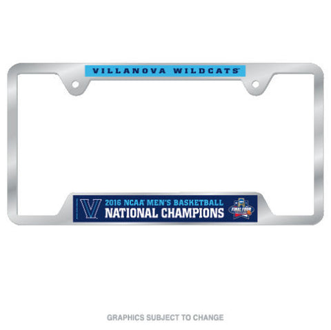 Villanova Wildcats 2016 NCAA Champions License Plate Frame - Free Shipping