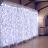304LED 9.84ft9.84ft/3m3m Window Curtain String Lights Wedding Home Decorations