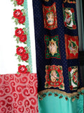 Handmade Boho Curtains Christmas Wall Decor Bohemian chic holiday Patchwork