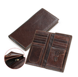 Mens Genuine Leather Credit Card Cell Phone Wallet - Black Friday Cyber Monday - Free Shipping