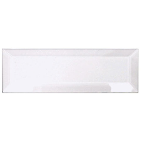 2 x 6 Inch Clear Rectangle Shaped Glass Bevels - Pack of 5