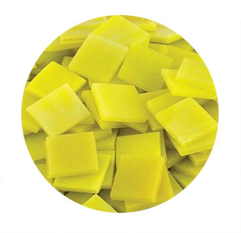 "3/4"" Yellow Opaque Stained Glass Chips - 48 Pieces"