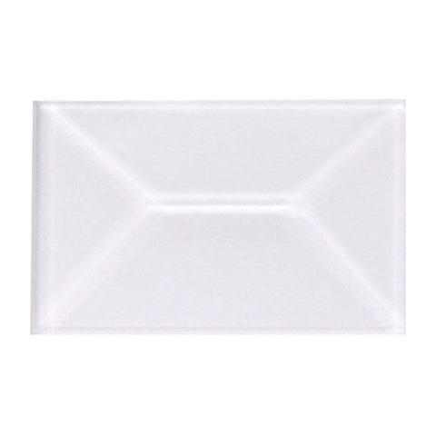 1 X 1.5 Inch Clear Rectangle Bevels Pack of 10