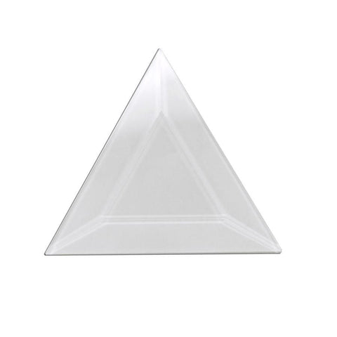 "Pack of 10 3"" X 3"" X 3"" Clear Glass Triangle Bevels"