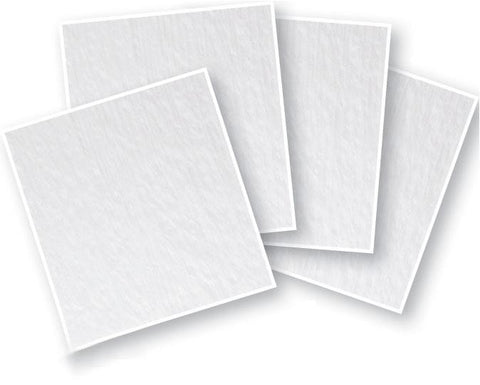 "6"" Clear Fusible Glass Squares 4 Pack - 90 COE"