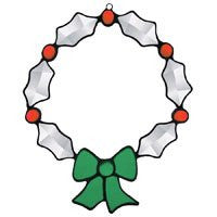 Stained Glass Supplies Beveled Glass Christmas Wreath Bevel Cluster - Not a finished Suncatcher