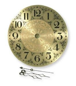 Clarity 5 inch Brass Clock Face With Hands