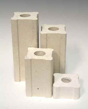 1 Inch X 1/2 Inch Kiln Posts - Set of 4