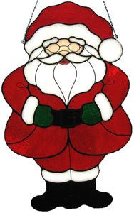 Pre-Cut Stained Glass Santa Claus Kit