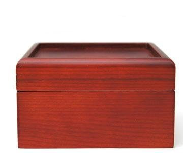 "5"" Wooden Display Box with Opening for Your Glass"