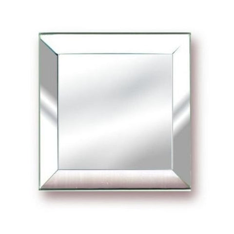 3 x 3 Inch Mirror Square glass bevels - pack of 6