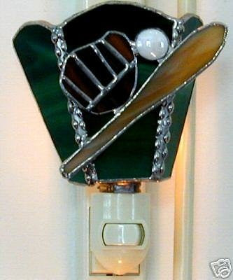 Stained Glass Baseball Nightlight