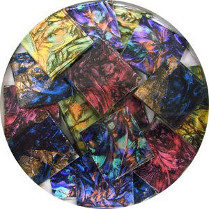 "3/4"" Van Gogh Multi-Colors Mix - Mosaic Glass Chips"