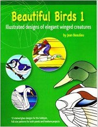 BEAUTIFUL BIRDS 1 Stained Glass Pattern Book