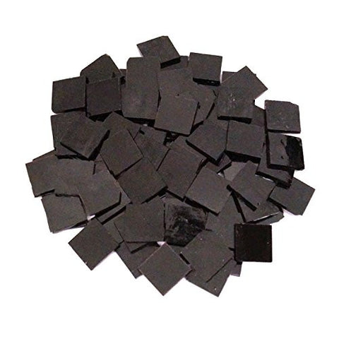 "Mosaic Supplies - 3/4"" Stained Glass Chips Black - 80 Pieces"
