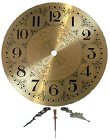 Clarity 7 inch Brass Clock Face With Hands
