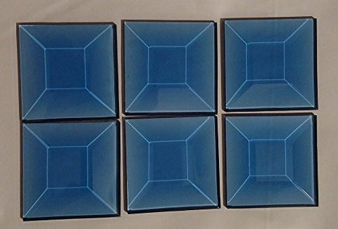 Stained Glass Supplies - 6 - 1.5 x 1.5 Inch Light Blue Glass Bevels