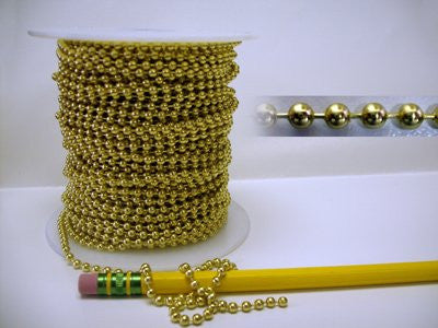 3ft Solid Brass Ball Chain