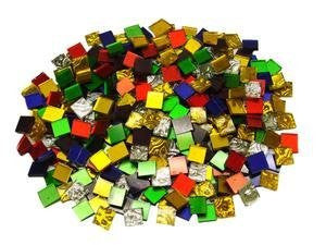 Jennifer''s Mosaics 1-Pound Variety Mosaic Mirror Tile, Assorted Colors