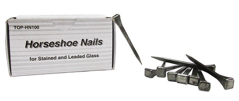 Aanraku Top Tools Steel 2 inch Horseshoe Nails Box of 100