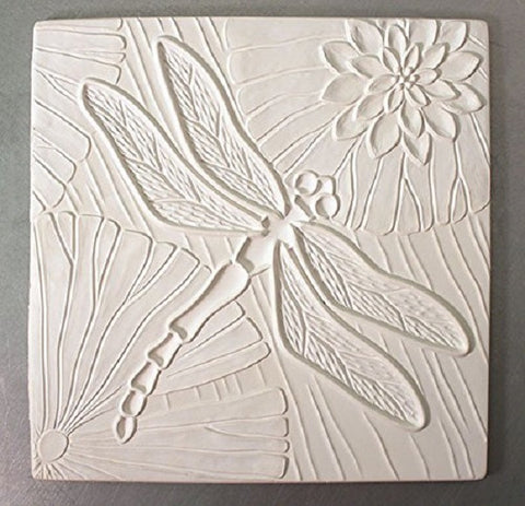 10 1/4 x 10 1/4 Inch Dragonfly Texture Tile Mold for Glass Slumping Kilnwork