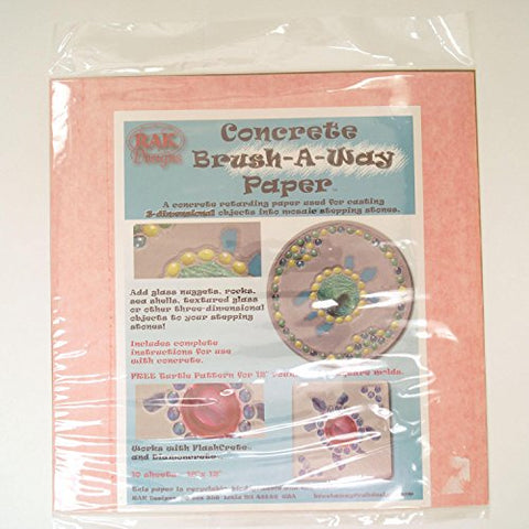 Concrete Brush-A-Way Paper for 3 Dimensional Mosaic Projects