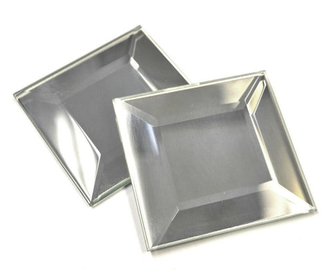 Stained Glass 1.5 x 1.5 Inch Bronze square bevels 6 pack