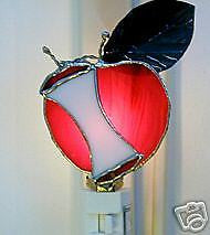 Stained Glass Apple and Core Nightlight