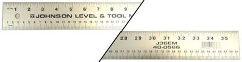 Aluminum Straight Edge Ruler 36 Inch Cork Back 2 Inches Wide
