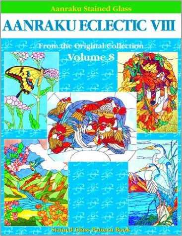 Aanraku Eclectic Stained Glass Pattern Book Volume 8