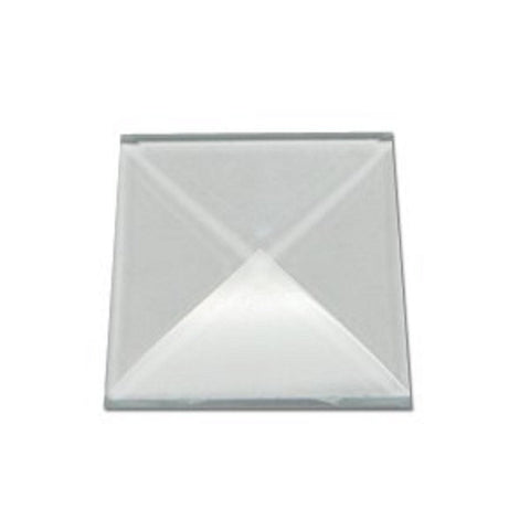 1 Inch Square Pyramid Glass Bevels Box of 30