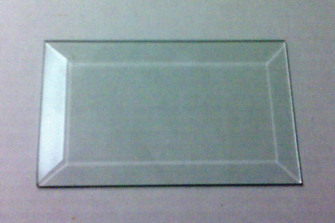 "3"" X 5"" Clear Glass Bevels-Pack of 6"