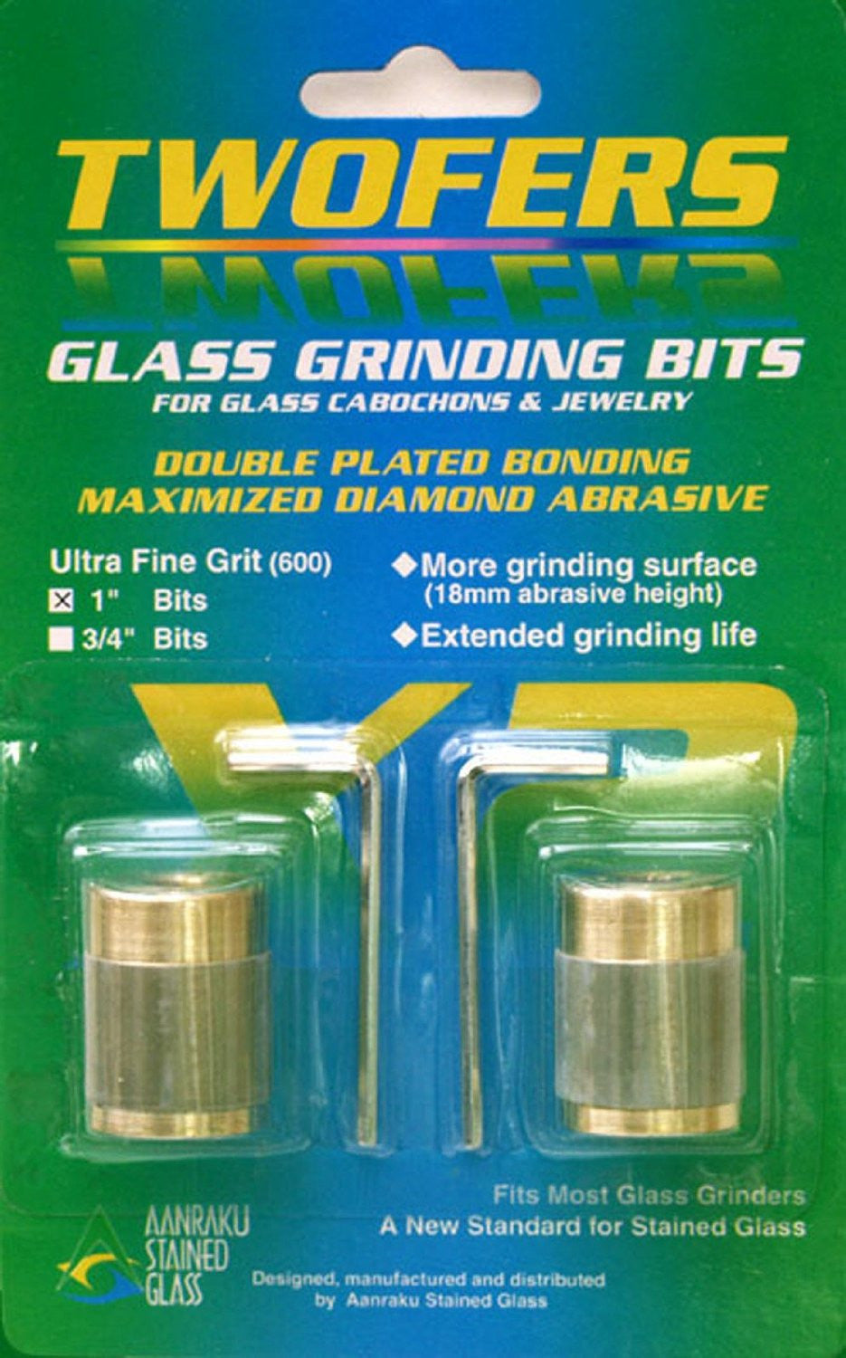 Gryphon Grinder Bit 3//4 Inch Fine Grit Stained Glass Supplies