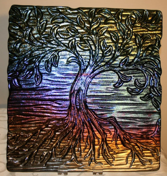 12 X 12 Inch Tree Of Life Texture Tile Mold For Glass