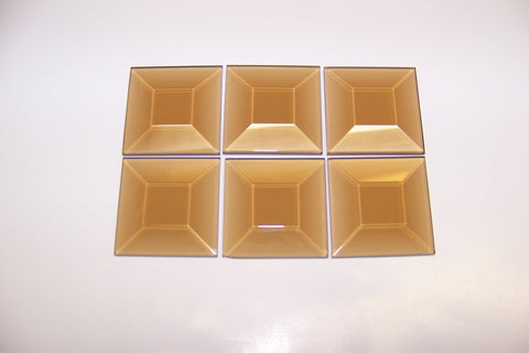2 X 2 Inch Bronze Square Bevels 6 Pack