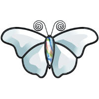 Bevel Cluster Clear Butterfly 05 Stained Glass Supplies