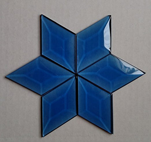 Stained Glass 1 1/2 X 2 Blue Diamond Bevels Pack of 6