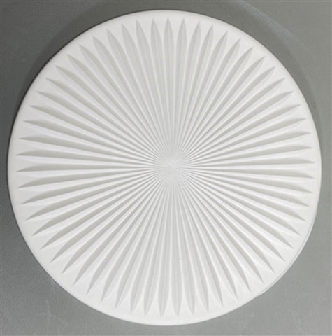 8 1/2 Inch Diameter Starburst Texture Tile Mold for Glass DT42
