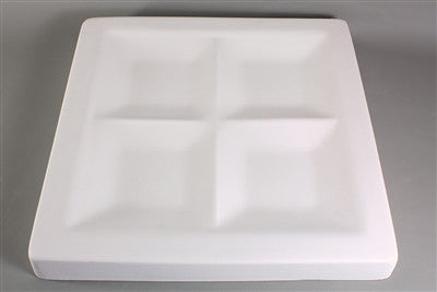 "11 1/2"" X 11 1/2"" Appetizer Tray Mold for Glass Slumping Retails for $50"