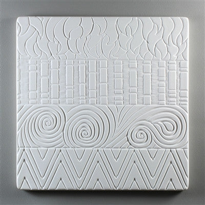 9 Inch Square Hot Pattern Textured Tile Mold for Glass Slumping