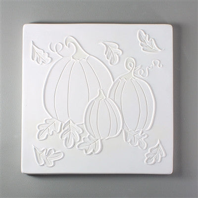 7 x 7 Inch Harvest Pumpkins Texture Tile Mold for Glass Slumping Kilnwork