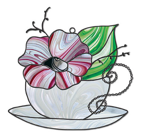 Free Stained Glass Patterns Tea Cup By Dione Roberts The Avenue