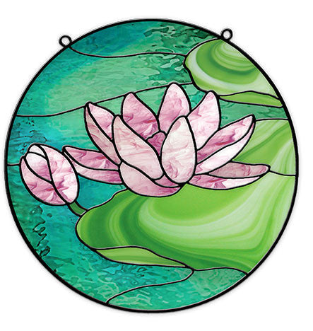 Free Stained Glass Patterns Waterlily Circle By Leslie