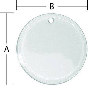 3 Inch Circle Beveled Glass Ornament With Pre-Drilled Hole