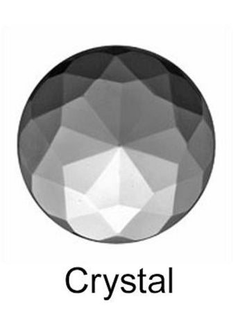 27mm Round x 12mm High Crown Crystal Clear Faceted Jewel