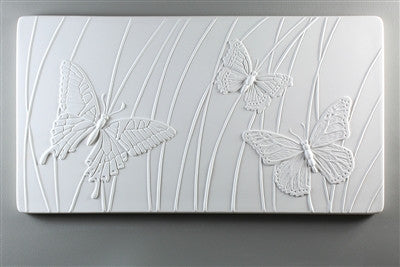 Butterfly Texture Tile Mold for Glass Slumping