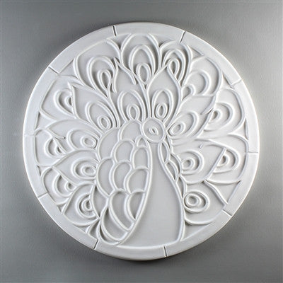 11 Inch Diameter Peacock Texture Tile Mold for Glass Slumping
